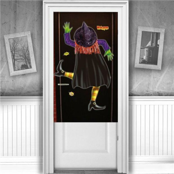 Halloween Crashed Witch Door Cover - 1.1m x 76cm